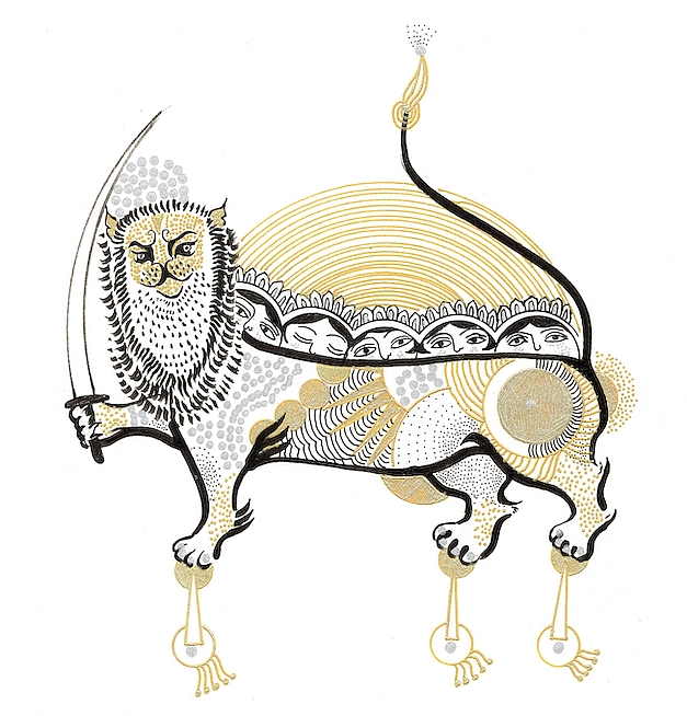 イランのイラストレーター、アミーン・ハサンザーデ=シャリーフの新作展「My Iranian Lions」開催