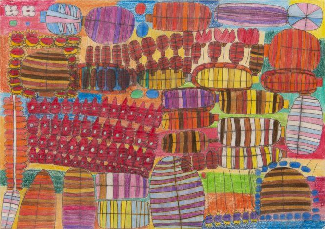 色鉛筆を使い色彩溢れる世界を描き出す若手作家2人による展覧会「カペイシャス展覧会 #12 」