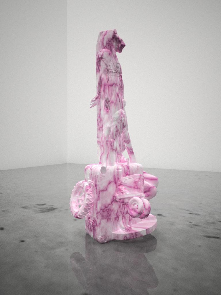 インターネット以降の彫刻表現を試みる井田大介の個展「着られた指」、TEZUKAYAMA GALLERYにて
