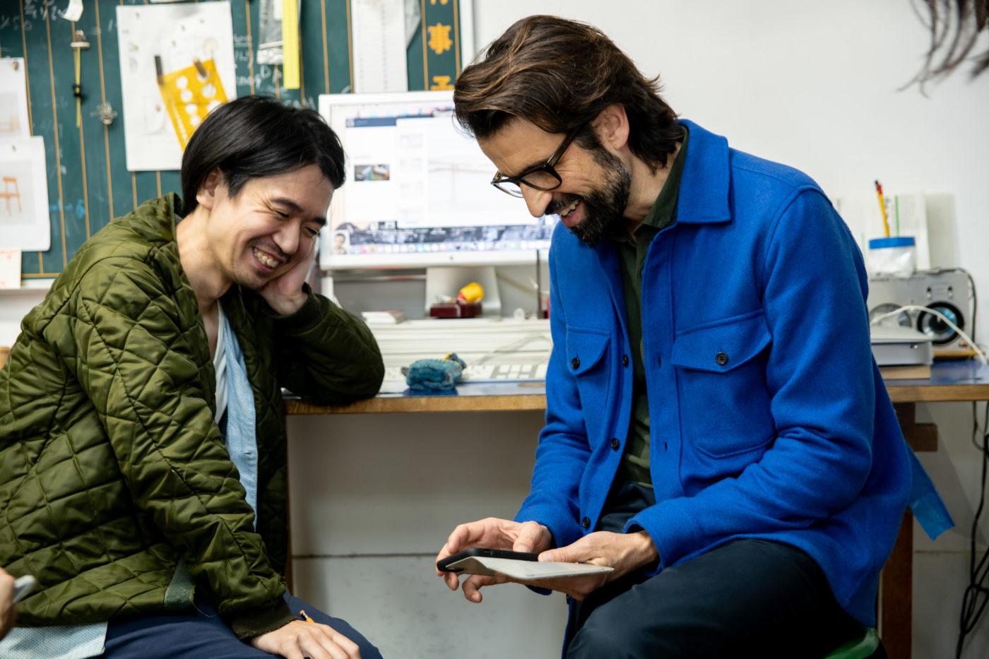 STUDIO VISIT|FREITAG創設者マーカス・フライターグさんと行く、吉行良平さんの仕事の現場 2/3
