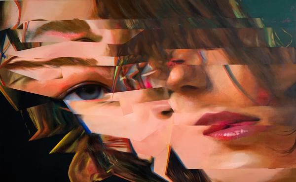 興梠優護の初発表となる映像作品と油彩画、シルクスクリーンによる展示、Yoshimi Artsにて