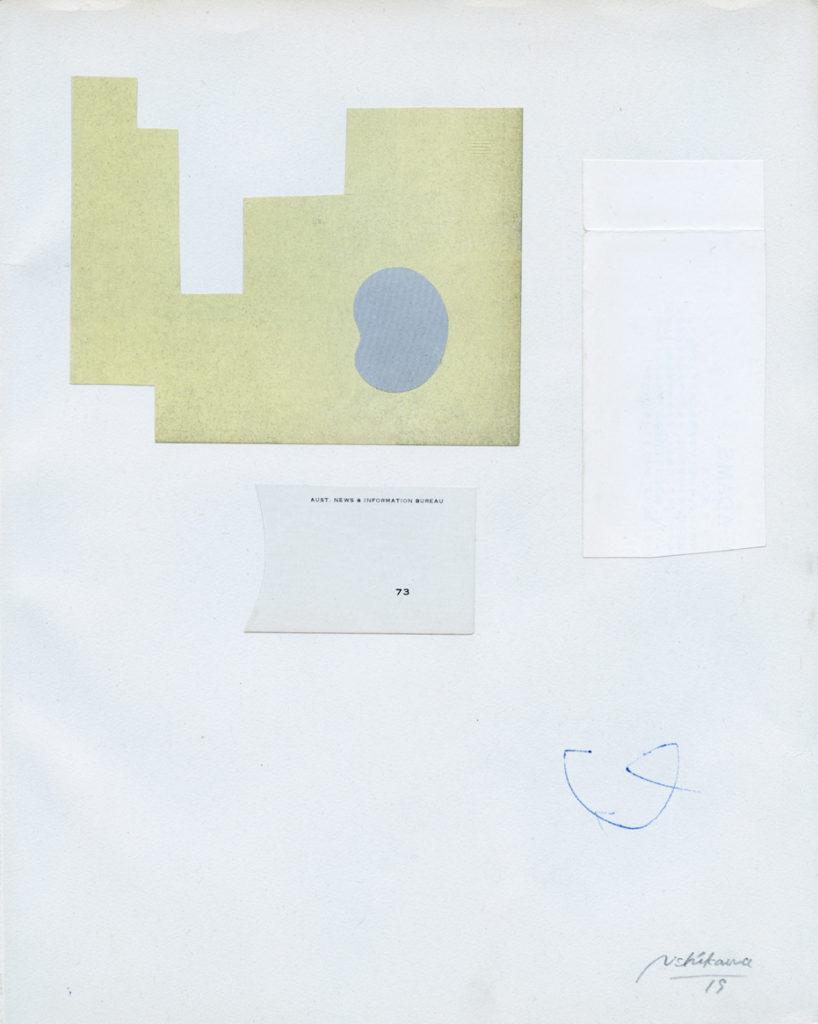 コラージュを中心とした作品を制作している西川亮太の個展、hitotoにて