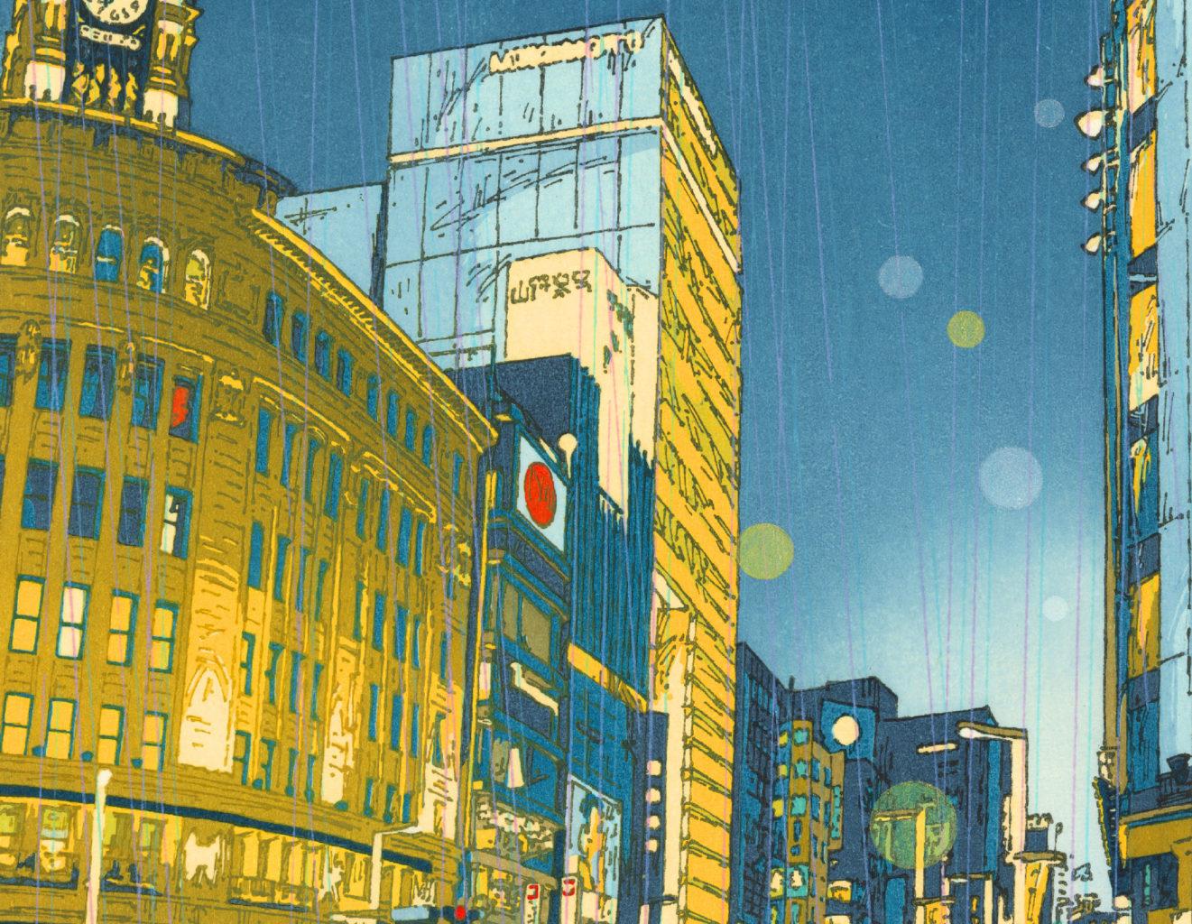 イラストレーター・つちもちしんじの現代版浮世絵作品集『浮き世』発売記念展示、シカクにて開催