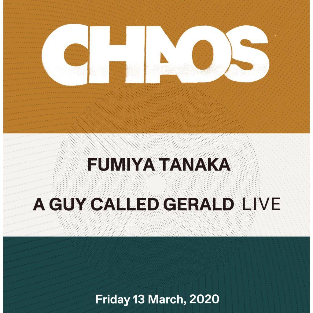 CIRCUS OSAKAにて開催のFumiya Tanakaによる「CHAOS」、UKアシッドハウスの重鎮が出演