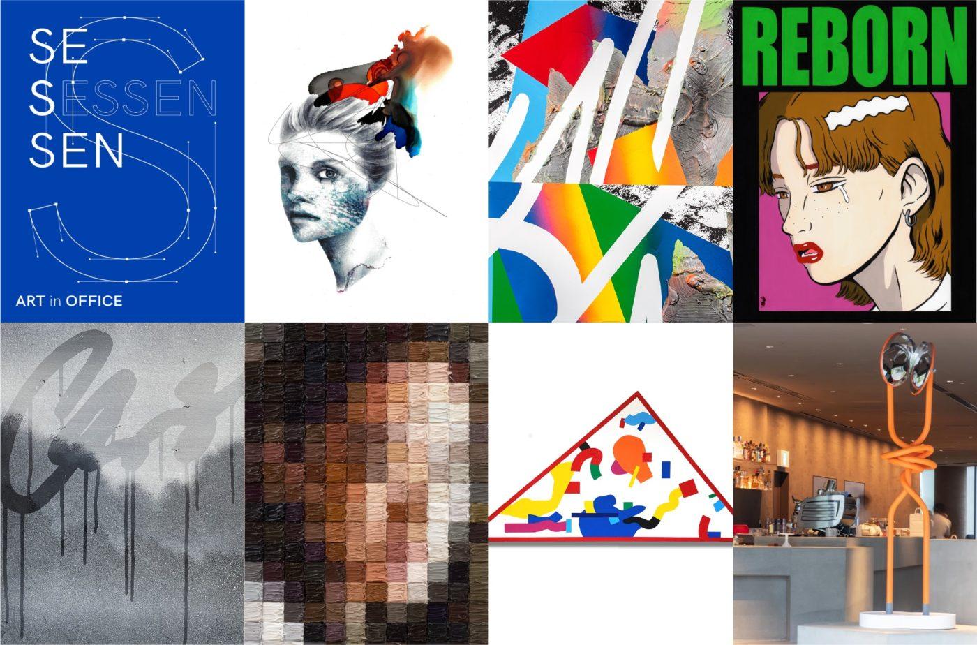 """FM802・FM COCOLO本社オフィスにて、DMOARTS主催「ART in OFFICE """"SESSEN""""」開催。7人の若手アーティストの作品をアートフェア形式で紹介。"""