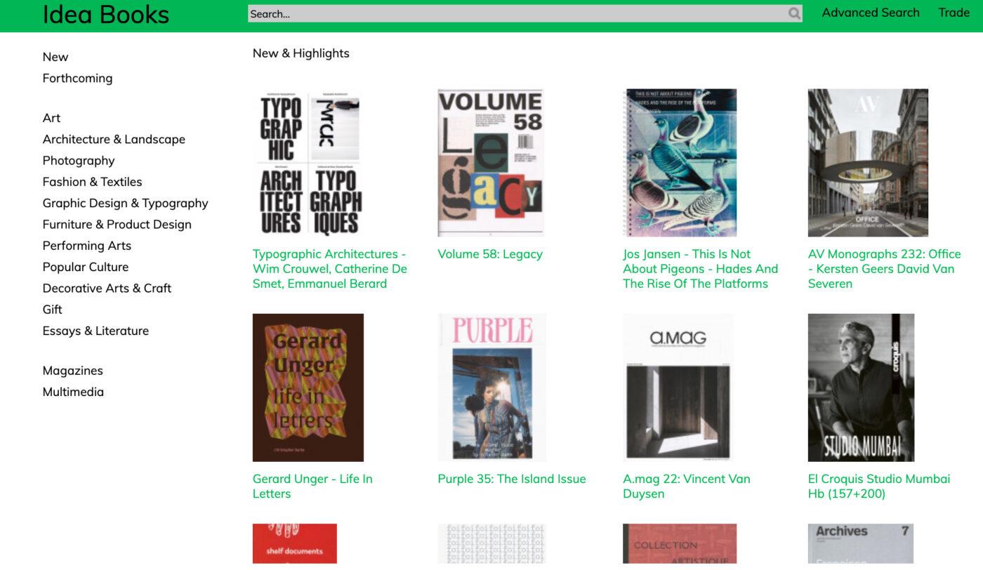 アムステルダムのアート系ディストリビューター、IDEABOOKSの新刊洋書のサンプルを展示・受注。「IDEABOOKS ARTBOOK EXHIBITION」、Calo Bookshop & Cafeにて。